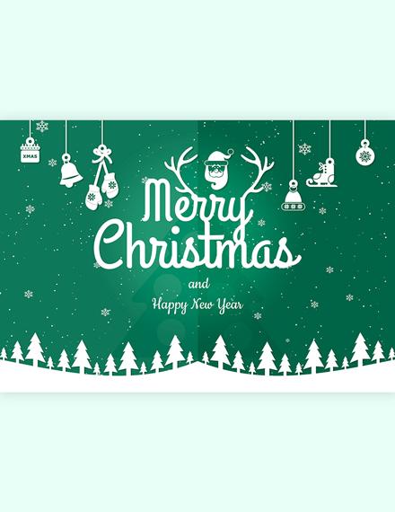 Modern Merry Christmas Card Template