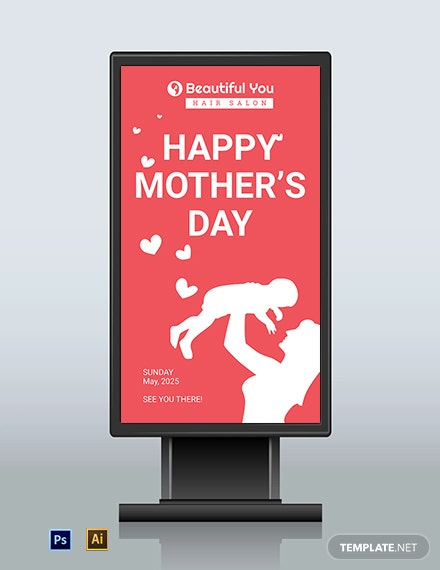 Download Free Mothers Day Digital Signage Template