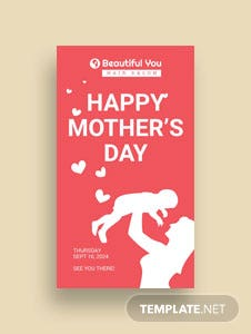 Free Mother's Day Digital Signage Template