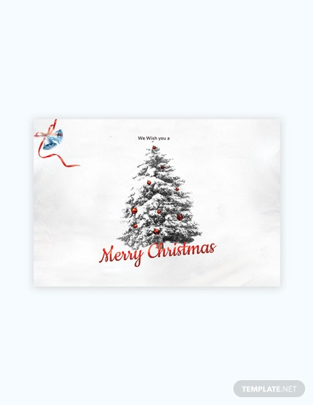 Free Simple Christmas Card Template