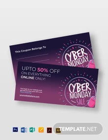 Free Cyber Monday Coupon Template