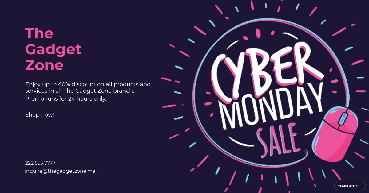 Free Cyber Monday Facebook Post Template