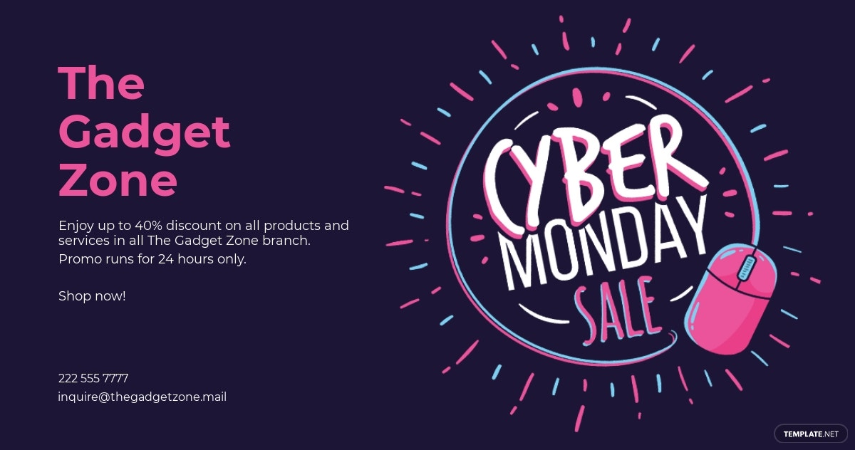 Cyber Monday Facebook Post Template