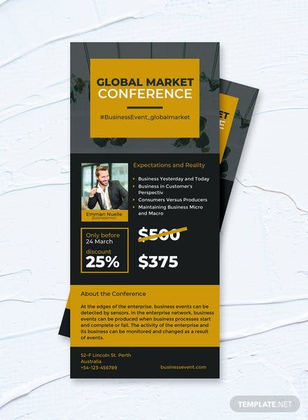 Free Corporate Event Rack Card Template