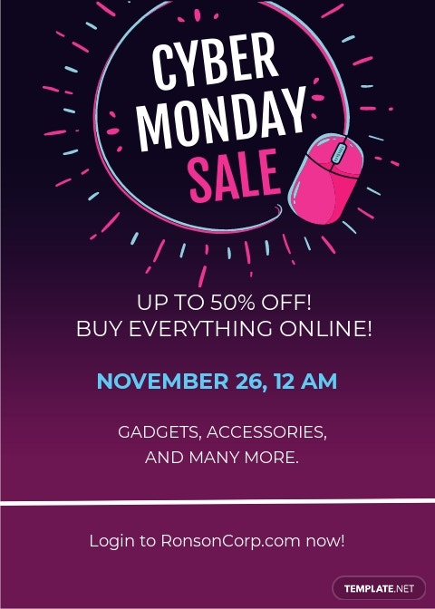 Cyber Monday Shopping Invitation Template
