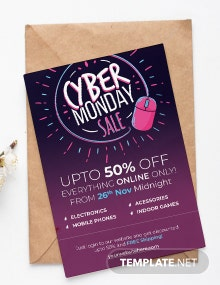 Free Cyber Monday Shopping Invitation Template