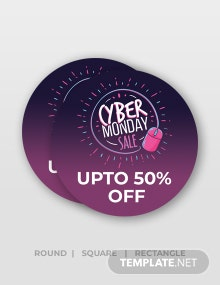 Free Cyber Monday Stickers Template