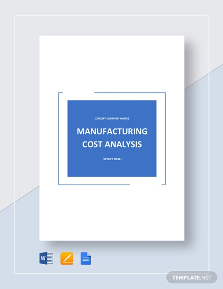 Manufacturing Cost Analysis Template