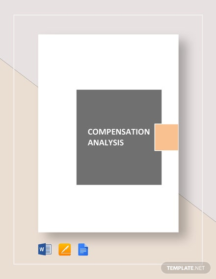 Sample Compensation Analysis Template