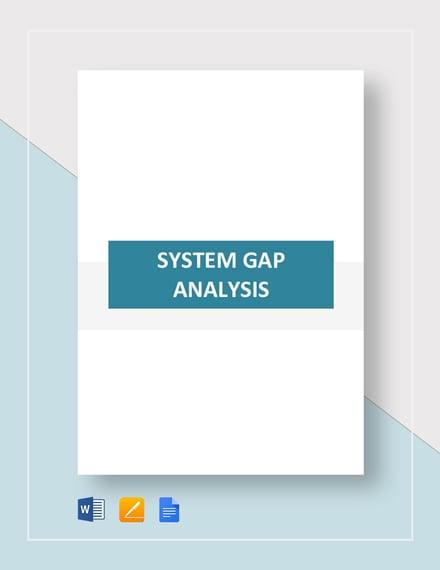 System Gap Analysis Template