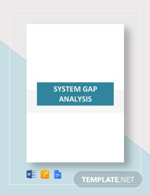 System Gap Analysis Template