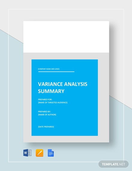 Variance Analysis Template