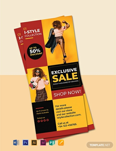 Free Fashion Rack Card Template