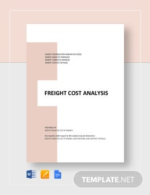 Freight Cost Analysis Template