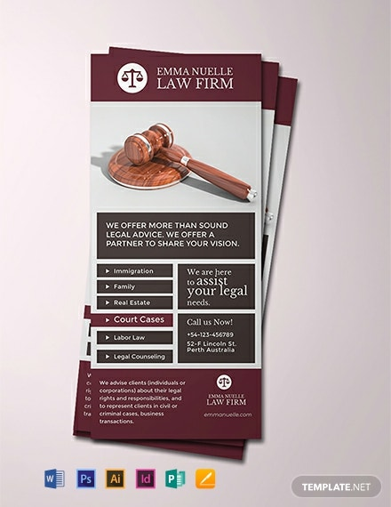 Law Firm Rack Card Template