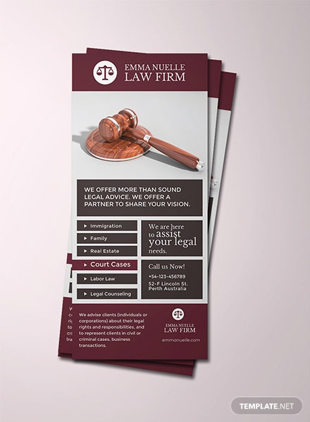 Free Law Firm Rack Card Template