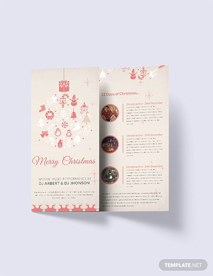 Free Christmas Tri-Fold Brochure Template