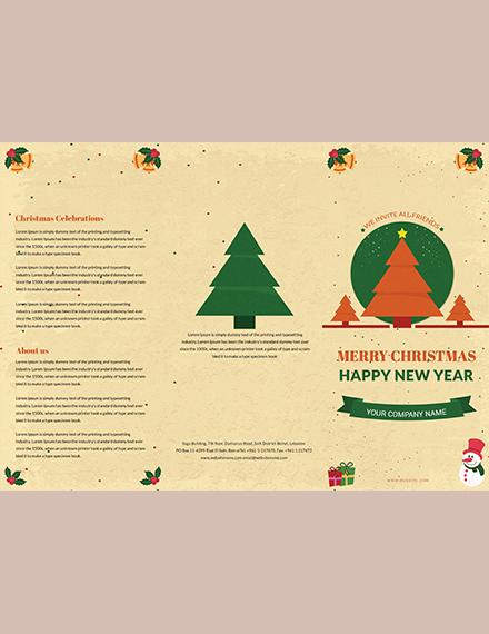 Vintage Christmas TriFold Brochure Template