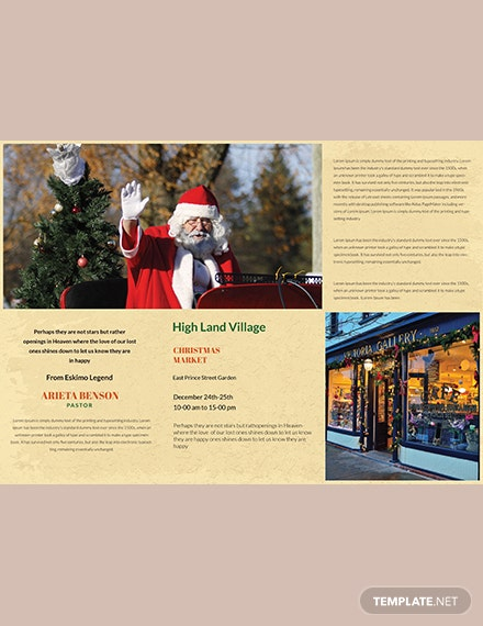 Vintage Christmas TriFold Brochure Template download