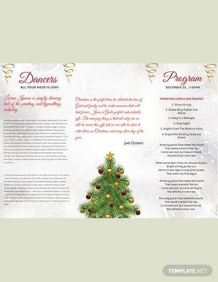Simple Christmas TriFold Brochure Template download
