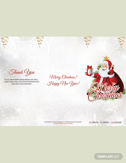 Simple Christmas TriFold Brochure Template