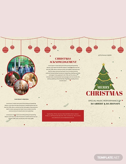 Retro Christmas TriFold Brochure Template