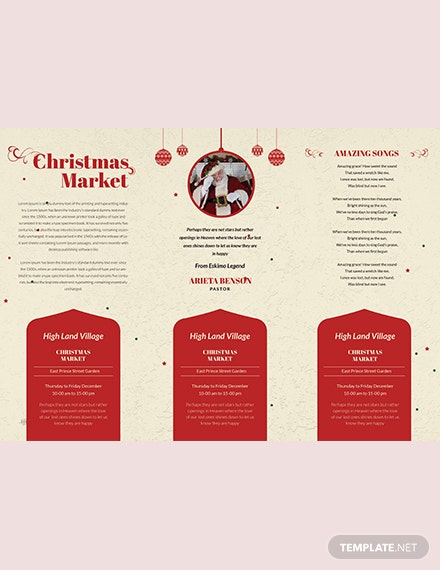 Retro Christmas TriFold Brochure Template download