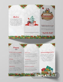 Free Christmas Party Tri-Fold Brochure Template