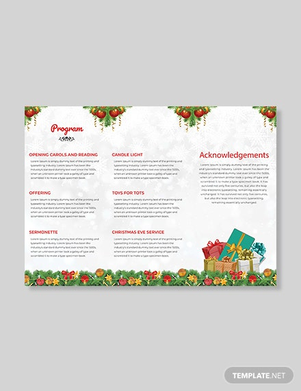 Christmas Party TriFold Brochure Template download