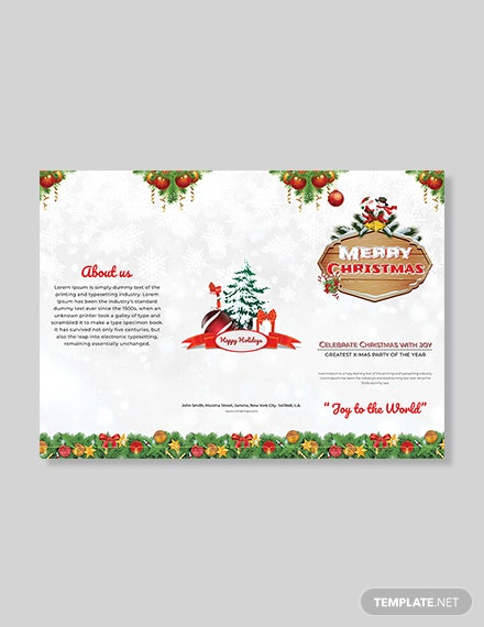 Christmas Party TriFold Brochure Template