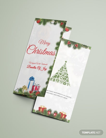 Free Merry Christmas Tri-Fold Brochure Template