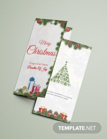 Merry Christmas Tri-Fold Brochure Template