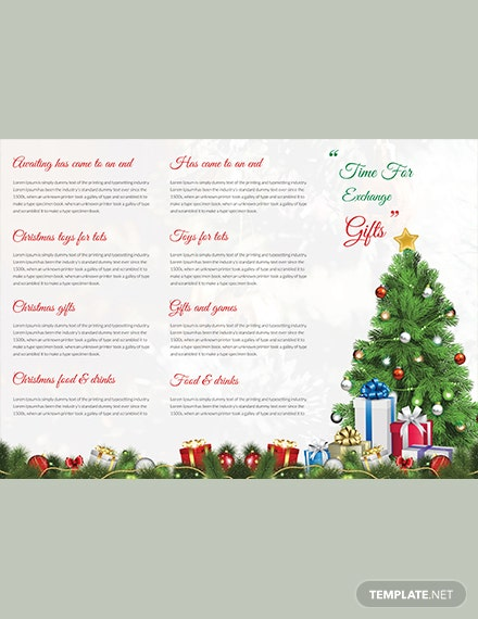 Merry Christmas TriFold Brochure Template download