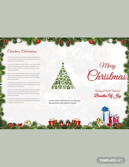 Merry Christmas TriFold Brochure Template