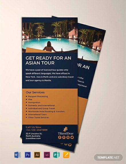 Travel Rack Card Template