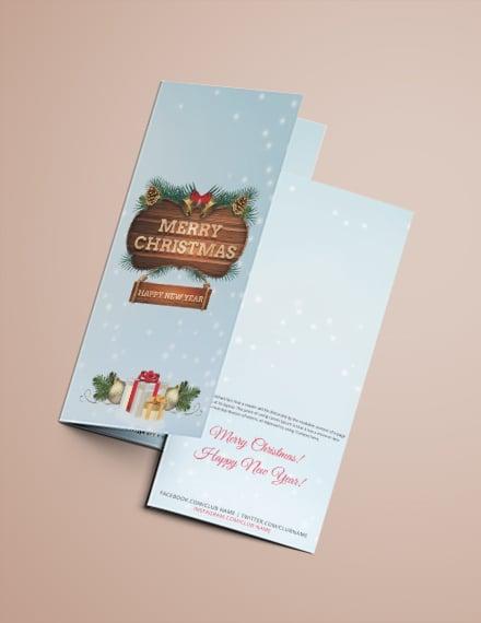 Free Christmas Event Tri-Fold Brochure Template