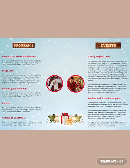 Christmas Event TriFold Brochure Template download