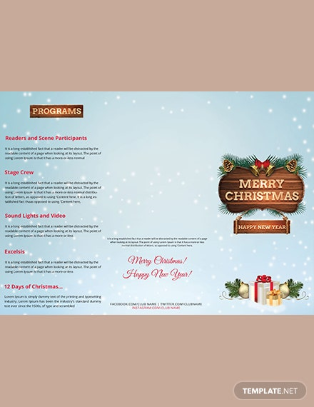 Christmas Event TriFold Brochure Template