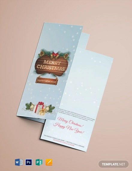 Free Christmas Event Tri-Fold Brochure Template