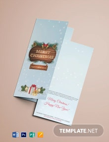 Christmas Event Tri-Fold Brochure Template