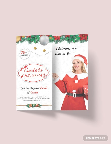 Free Modern Christmas Tri-Fold Brochure Template