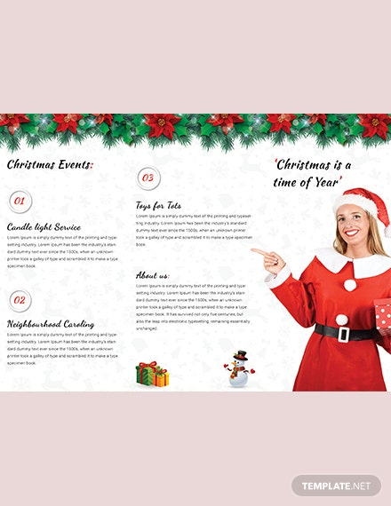 Modern Christmas TriFold Brochure Template download