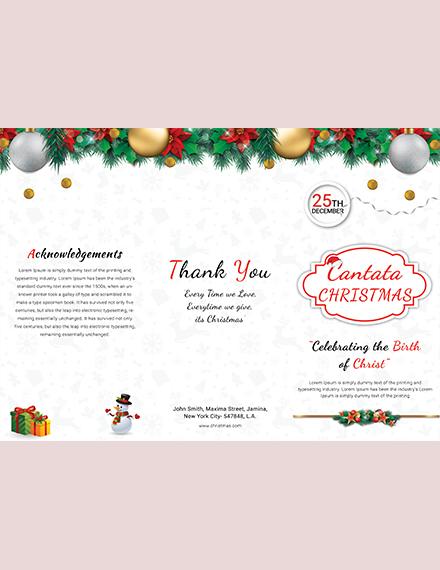 Modern Christmas TriFold Brochure Template