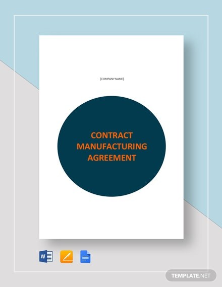 Contract Manufacturing Agreement Template