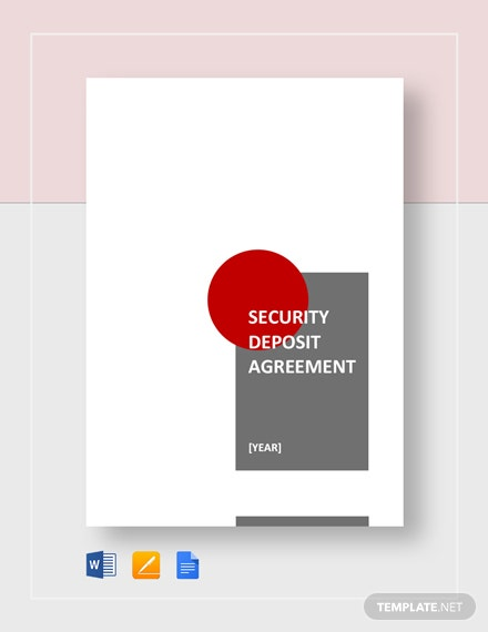 Security Deposit Agreement Template