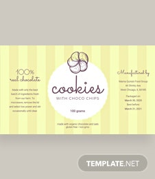 Free Product Label Template