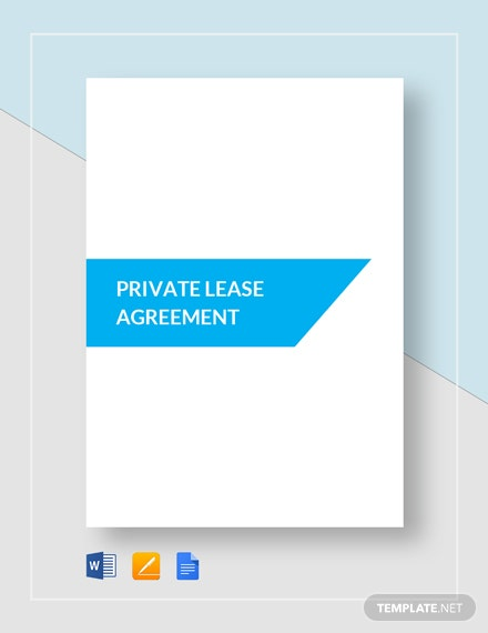 Private Lease Agreement Template