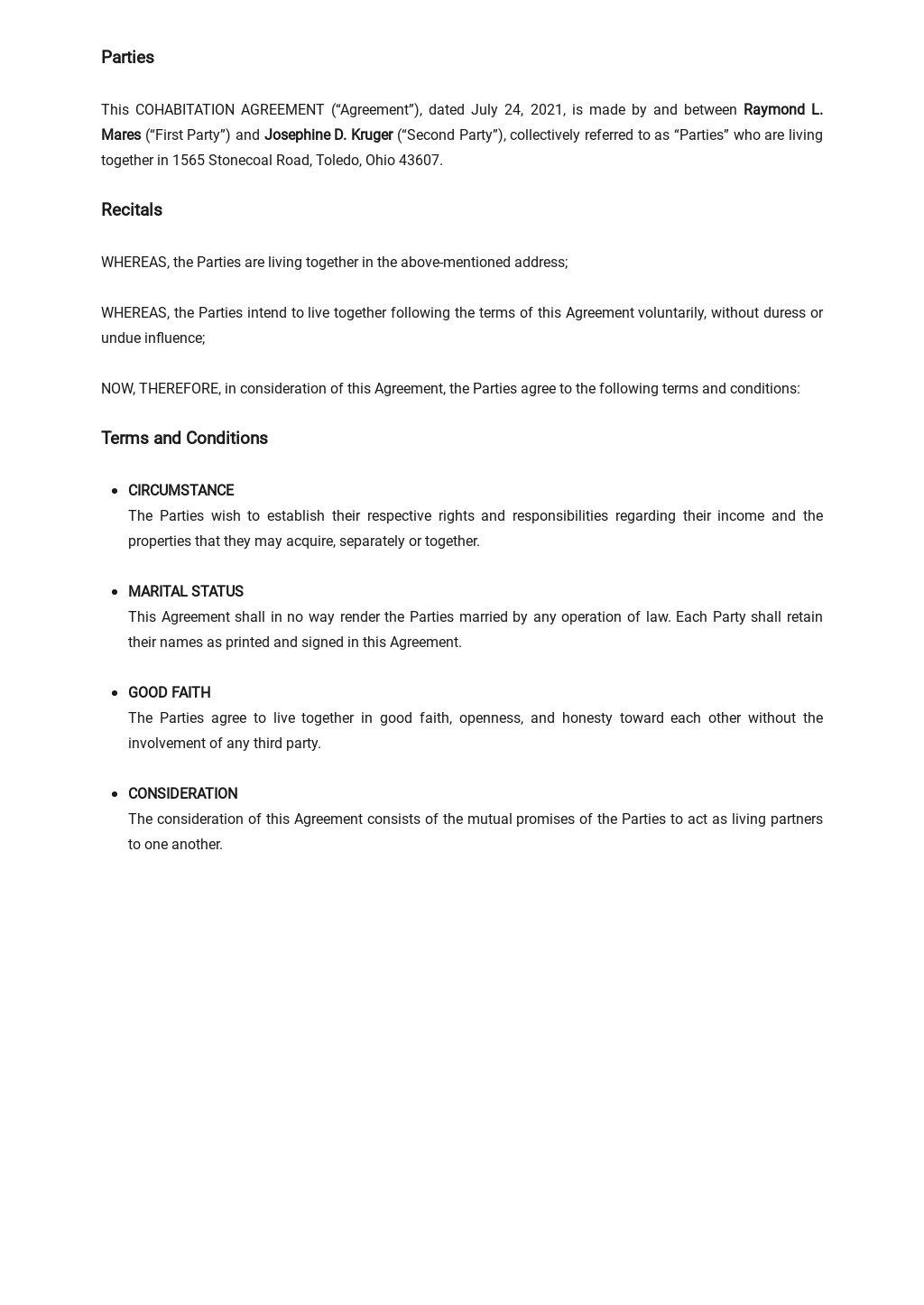 Cohabitation Agreement Template  1.jpe