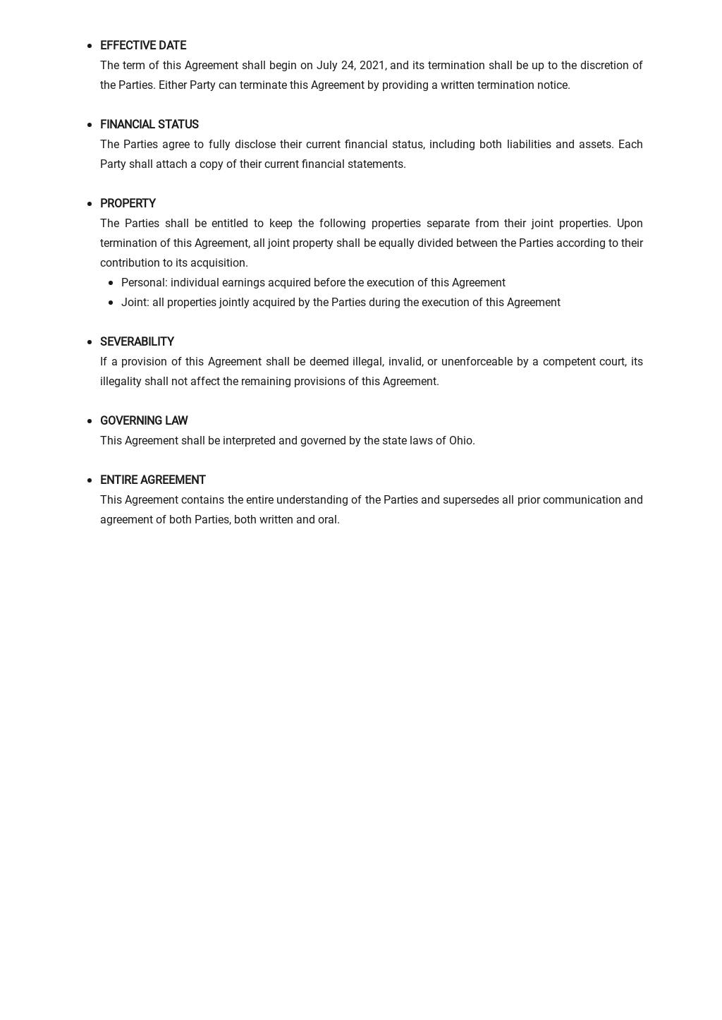 Cohabitation Agreement Template  2.jpe