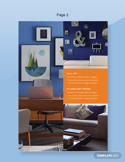 Home Decor Catalog Template Word Doc